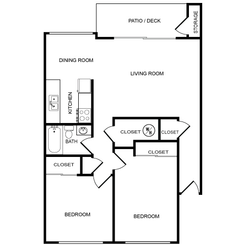 2 bedroom 1 bathroom apartment floor plan spanish hills apartments in
