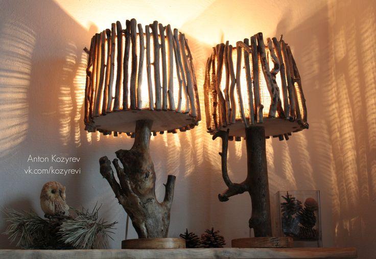 Настольные лампы из коряг / Driftwood