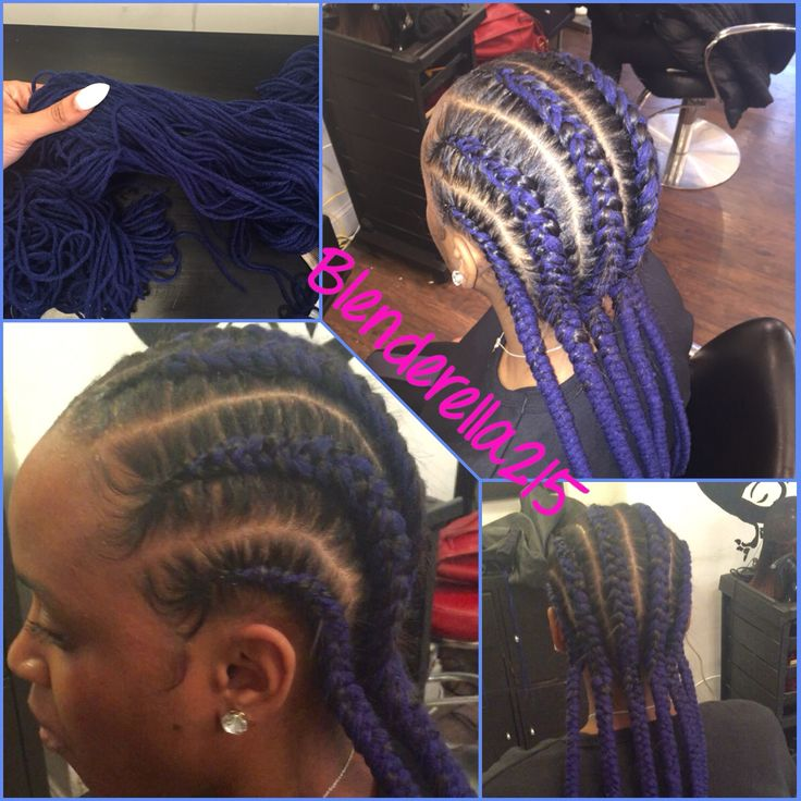 Yarn braids  cornrows A trend that started right here in this salon Great protective style