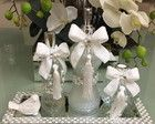 2 kit (branco e flores marfim) 3 peças.