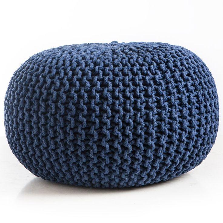 Knitted Pouf Patterns : 25+ basta Knitted pouf ideerna pa Pinterest