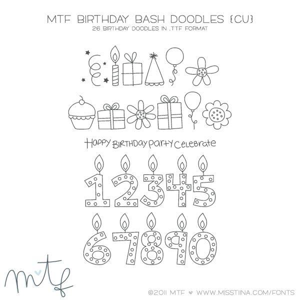 verjaardags doodles