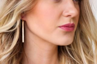 Simple Gold Bar Earrings