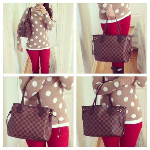 louis vuitton neverfull pm. ella pretty: louis vuitton neverfull pm in damier ebene pm o