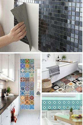 Les Meilleures Idées De La Catégorie Adhésif Mural Sur - Frise adhesive carrelage cuisine pour idees de deco de cuisine