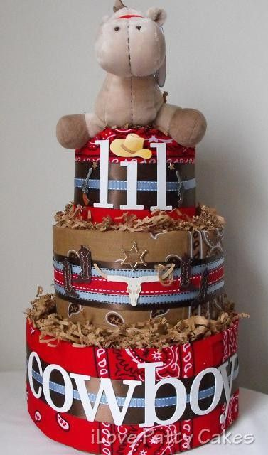 Cowboy Diaper Cakes for Boys | Add it to your favorites to revisit it later.
