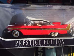 Plymouth Fury film Christine 1958 diecast neuf die cast 1/18
