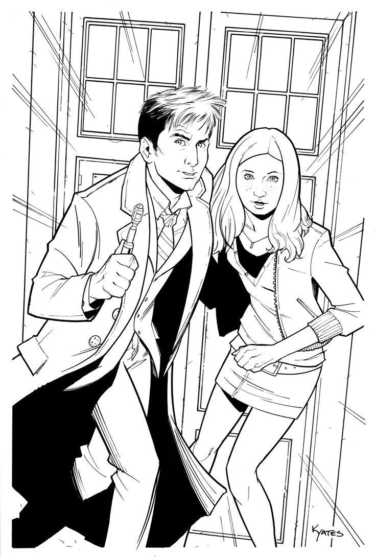 Amy Pond Kissogram Doctor Who Colouring Pages Coloring Pages Fantastic Cities Coloring Book [ 1090 x 736 Pixel ]
