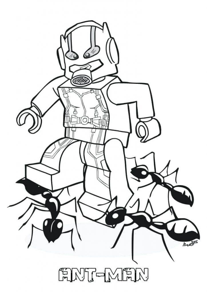 Ant Man Coloring Pages Kartun