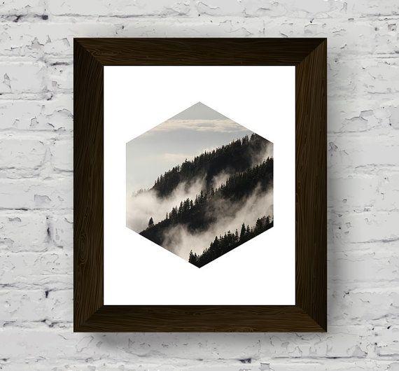 arte della parete di montagna stampa fotografia