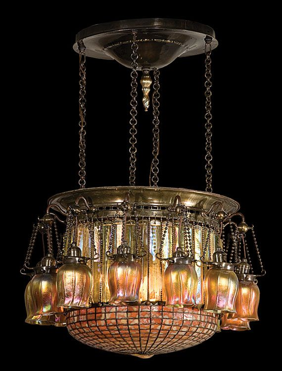 596 best chandeliers images on pinterest chandeliers antique a twelve light moorish chandelier tiffany studios gilded age nyc image via antiques fine art cwl mozeypictures Image collections