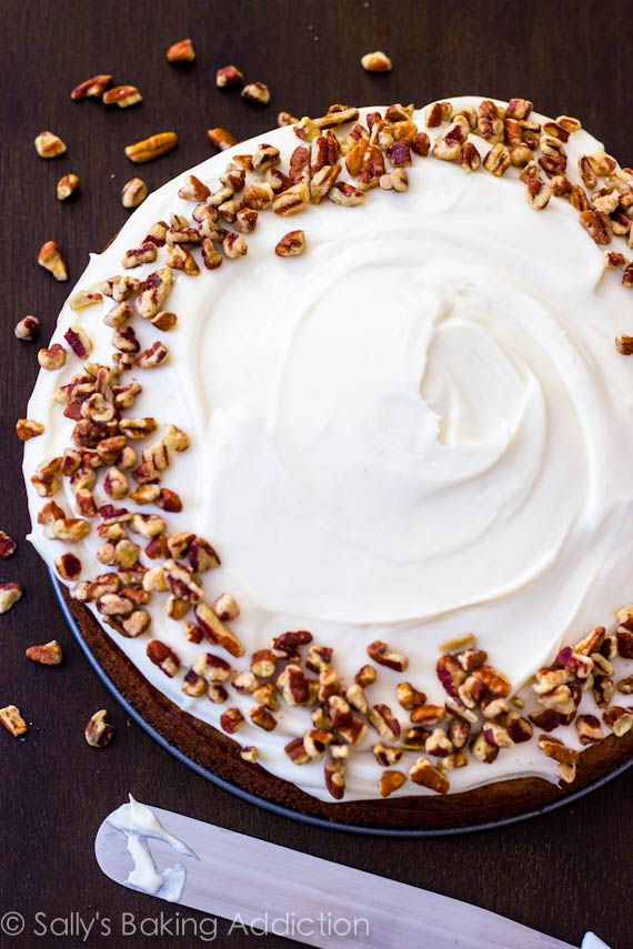 Super Moist Carrot Cake by sallysbakingaddiction.com @Sally M. [Sally's Baking Addiction]