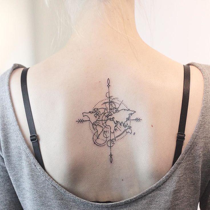 Little world map piece made at @vadersdye  ________________ Using @rghtstuff machines  ________________ #rachainsworth #minimaltattoo #linetattoo #smalltattoo #hamburgtattoo