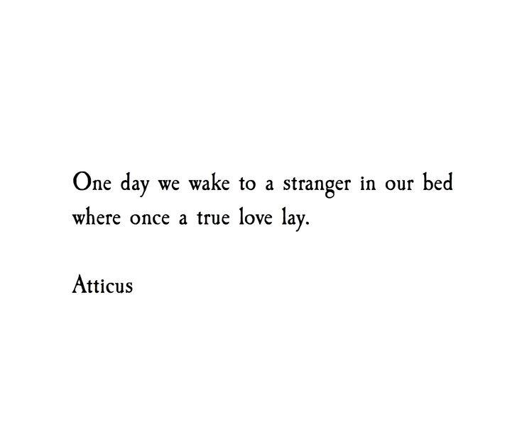 'Stranger' #atticuspoetry #atticus #loveherwild #stranger
