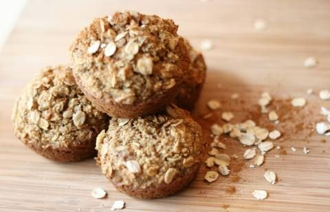 Applesauce oatmeal muffins are a hearty, healthy breakfast option