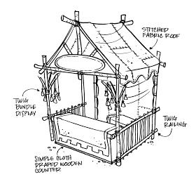 RENAISSANCE FAIRE and Themed Event Design: FABRIC WALLS