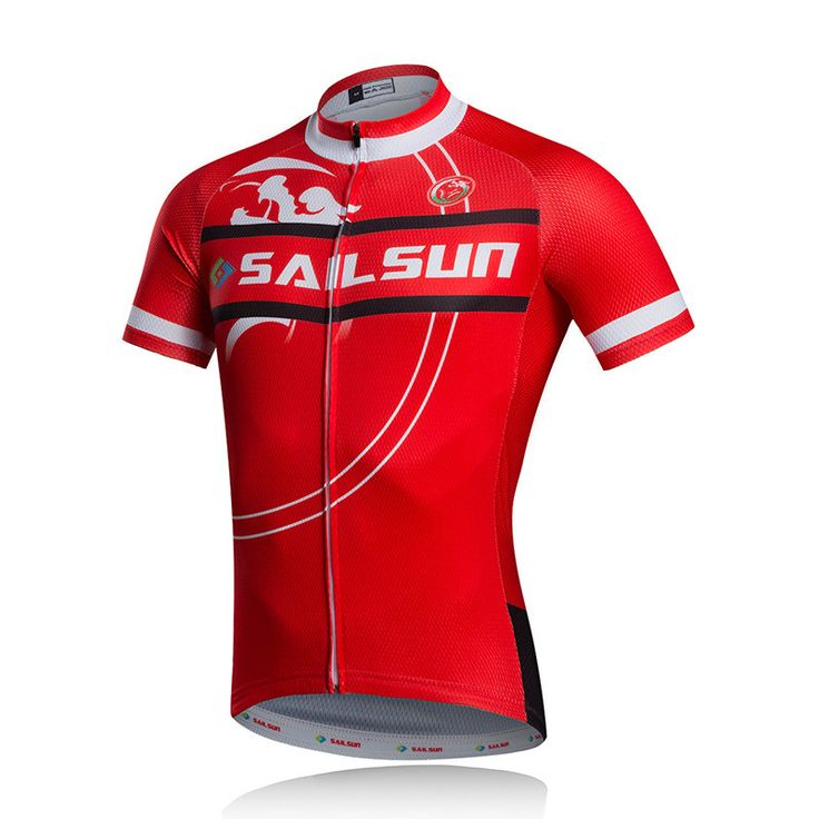 HOT SAIL SUN Red Men bike Jersey or Cycling Bib Shorts Pro MTB Clothing Summer Male team ropa Bicycle Top wear Breathable