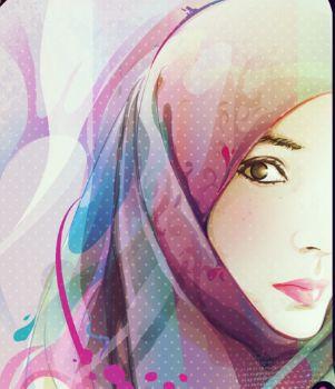 Wallpaper Cartoon Islamic Girl Muslimah Anime Manga Drawing ༺ Anime Manga Drawing