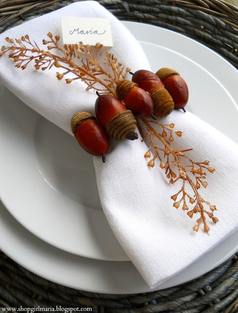 Thanksgiving place setting2 20 Thanksgiving Place Settings Ideas