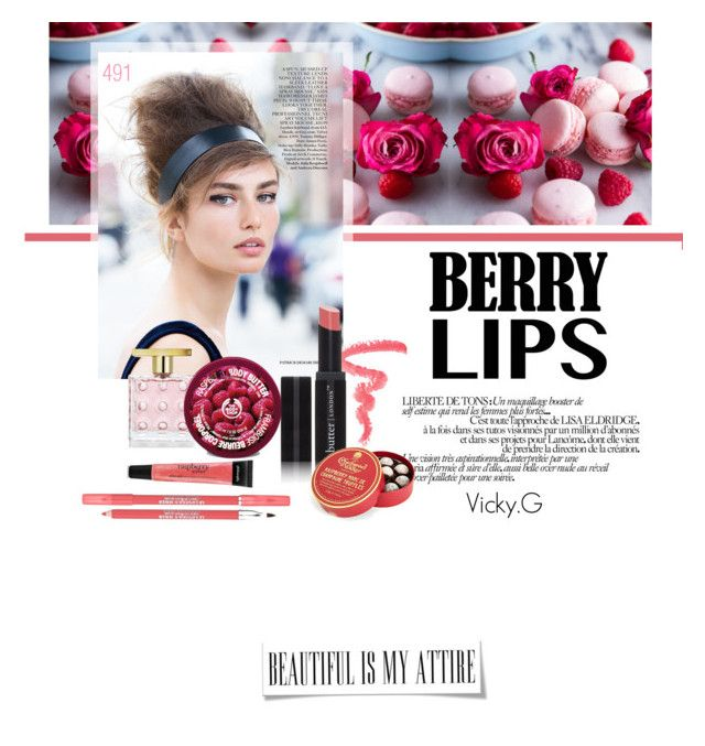 """Set # 491 / Raspberry Sorbet Lips"" by vassiliki-g on Polyvore"
