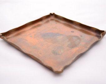 Vintage Handmade Copper Tray by vintagecornerbazaar. Explore more products on http://vintagecornerbazaar.etsy.com