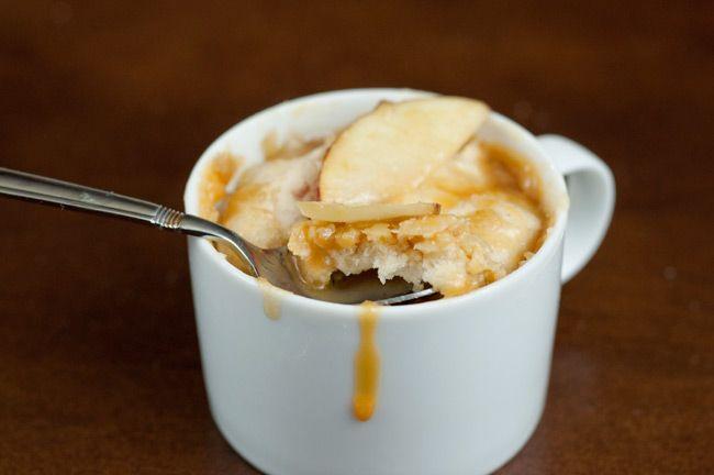 Caramel Apple Mug Cake