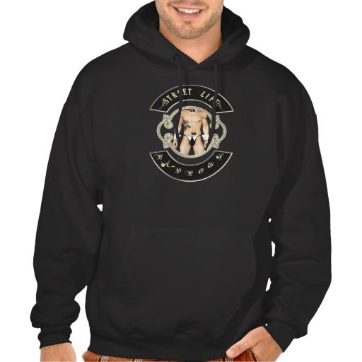 BadBoys gold logo with man with a gun in his pants Hooded Pullovers