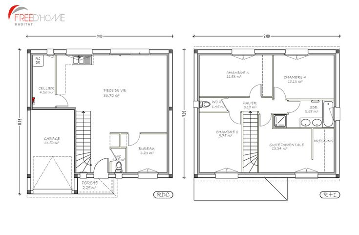 Plan maison 50m2 au sol plan maison r 1 100m2 900 x 589 pixels plans plan maison 100m2 - Plan maison r 1 100m2 ...