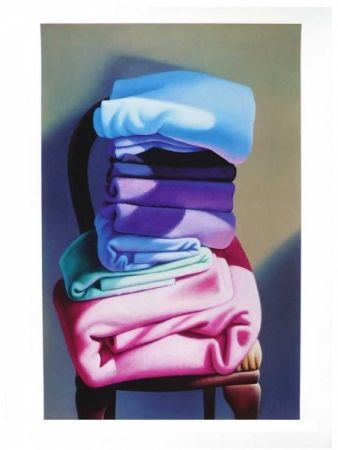 'Massage Towels  Blankets' by Michael Smither (2009). Reproduction of 1996 oil…