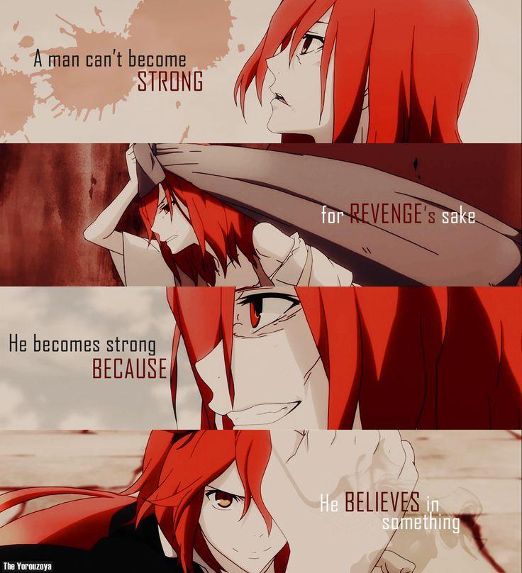 Um Homem não torna-se forte por causa de vingança, ele torna-se forte porque ele acredira em algo Rokka no Yuusha