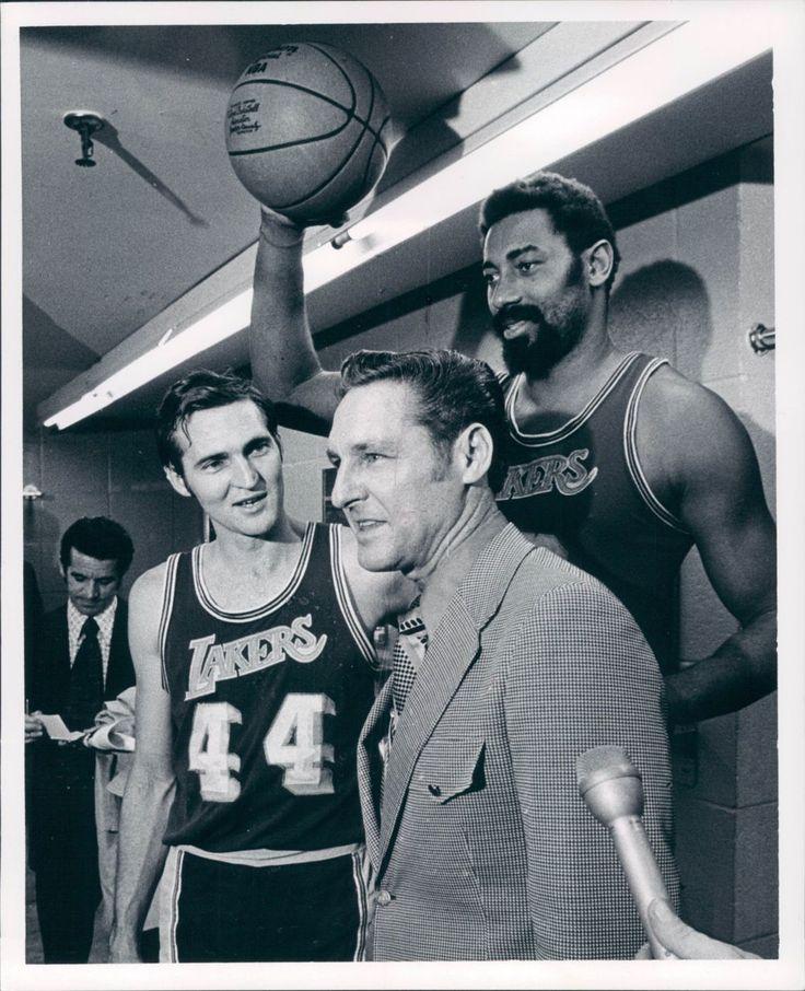 Jerry West, Wilt Chamberlain, & Coach Bill Sharman