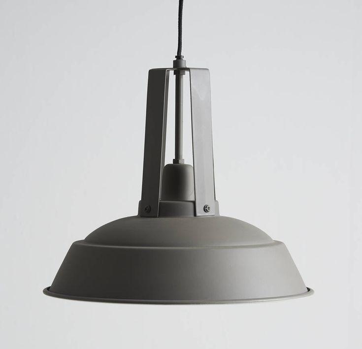 Industrial Grey Metal Pendant Light