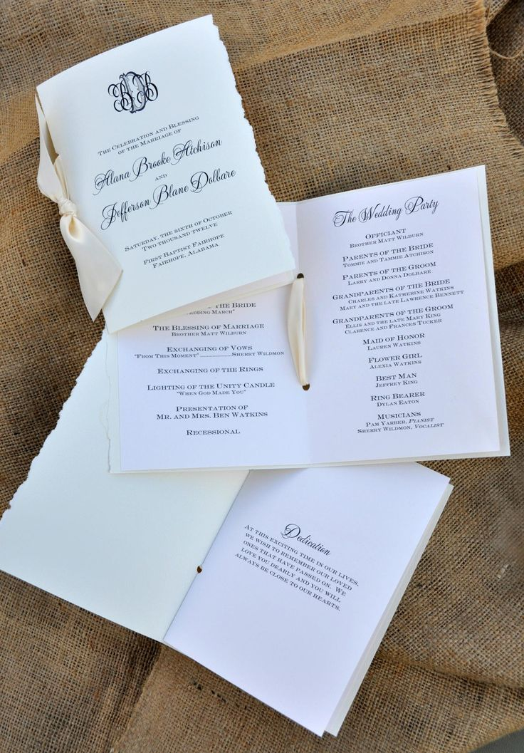 wedding invitation text format for friends%0A Customizing your Wedding Programs  u     Wiregrass Weddings