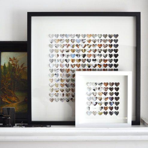 DIY - Un joli cadeau à fabriquer soi même : le tableau en papier | Le Blog…