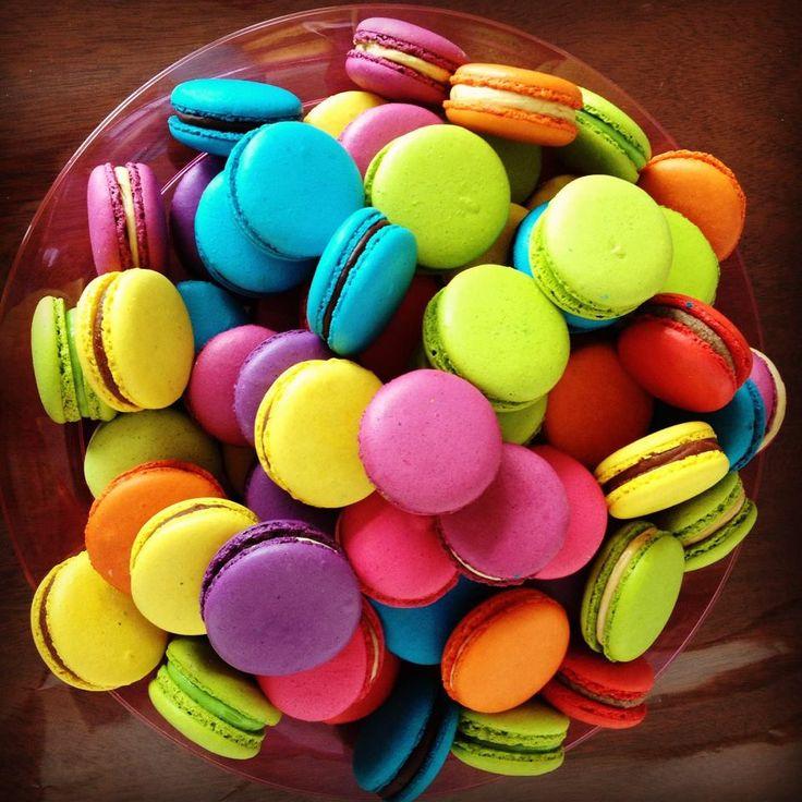 Colorful macarons macarons and cake pops love