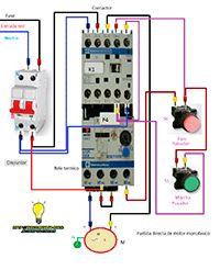Esquemas eléctricos: Partida directa motor monofasico contactor