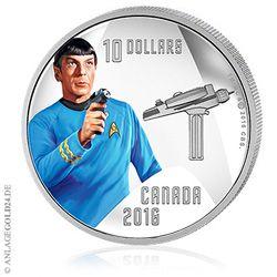 Spock Silbermünze / Star Trek