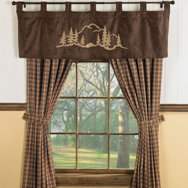 Curtains Ideas brown valance curtains : 17 Best images about Cabin on Pinterest