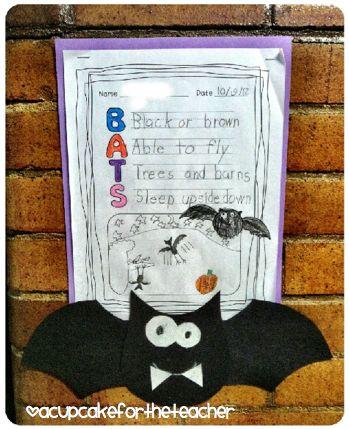 A Cupcake for the Teacher: Going Batty! {Free Craftivity}