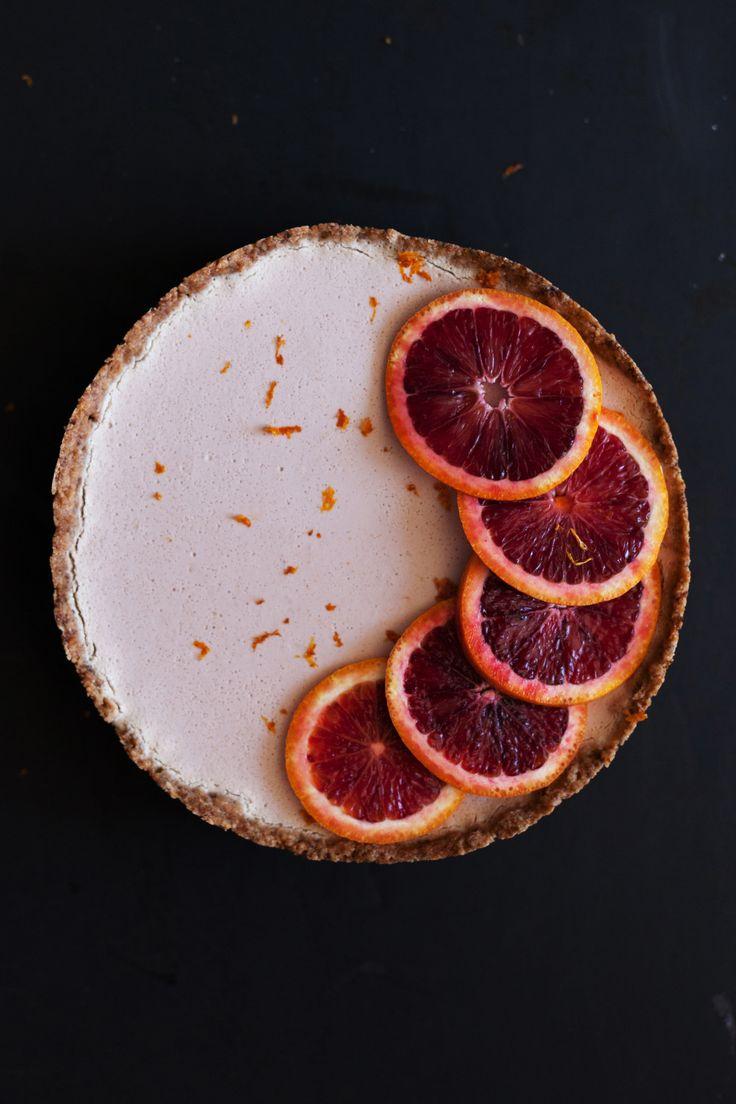 Gluten Free, Vegan, Sugar free - White Chocolate Blood Orange Mousse Tart | Golubka Kitchen | Bloglovin'