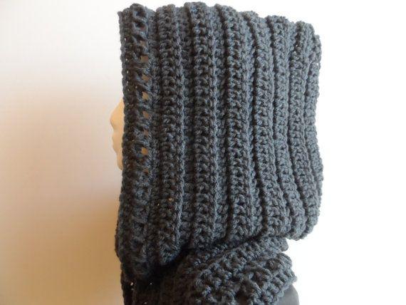 INSTANT digital download - Crochet Hooded Scarf Pattern ...