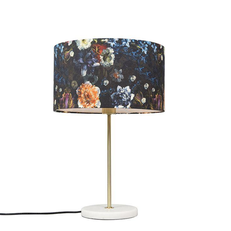 Tischleuchte Kaso Messing mit Schirm 35 cm florales Muster Jetzt bestellen unter: https://moebel.ladendirekt.de/lampen/tischleuchten/beistelltischlampen/?uid=0a3ab134-1059-5ca2-984e-7127419785f5&utm_source=pinterest&utm_medium=pin&utm_campaign=boards #lampen #tischleuchten #modern #beistelltischlampen Bild Quelle: www.lampenundleuchten.de