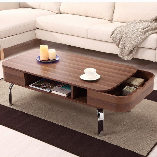 Elegant Hokku Designs Lawson Coffee Table In Glossy Lacquer Walnut   Great Ideas