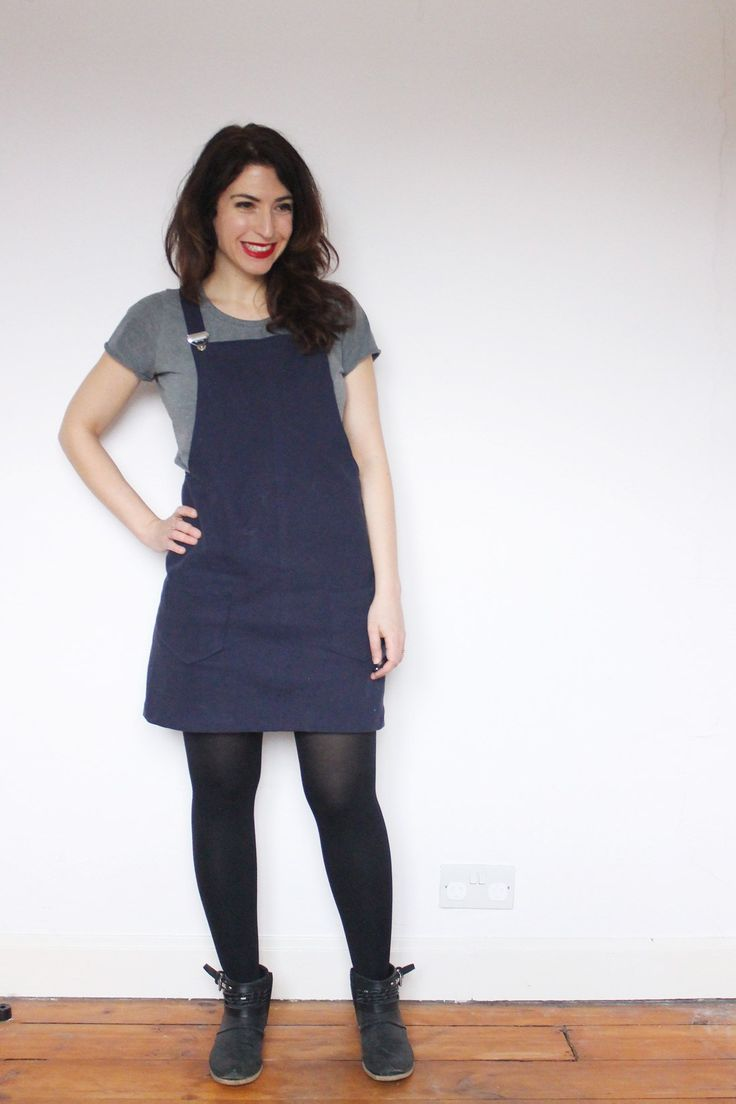 Elena's Cleo dungaree dress - sewing pattern by Tilly and the Buttons