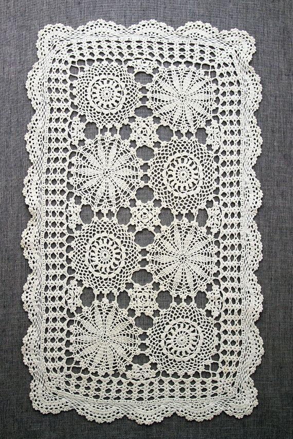 Vintage Crochet Doily crochet table linen at MrsBathsDrawers