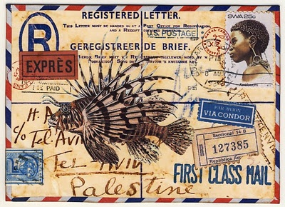 One of my favorite things to craft ~ mail art.  Mine aren't this spectacular though...