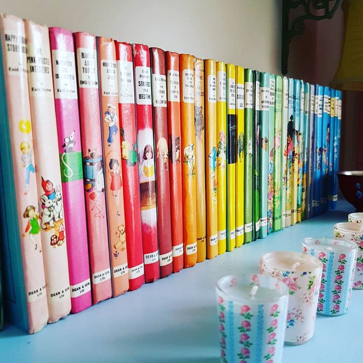 "209 Likes, 19 Comments - The Junk Dolly - Suzanne Smith (@thejunkdolly) on Instagram: ""It's got to be my Enid Blyton rainbow library for #colourfulfeb which also contrasts to the grey,…"""
