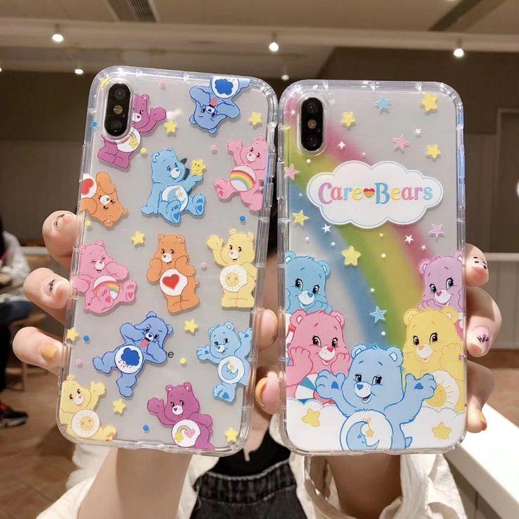 Ins korea cute anime candy rainbow cear happy bear iphone