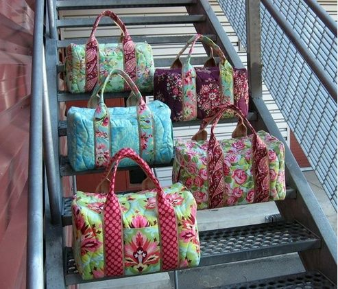 Everyone has a duffel, but not everyone has a gorgeous duffel. Now you can sew up your own custom travel bag with this pdf pattern by StudioCherie!