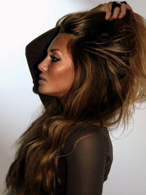 Gorgeous hair color. Gorgeous makeup
